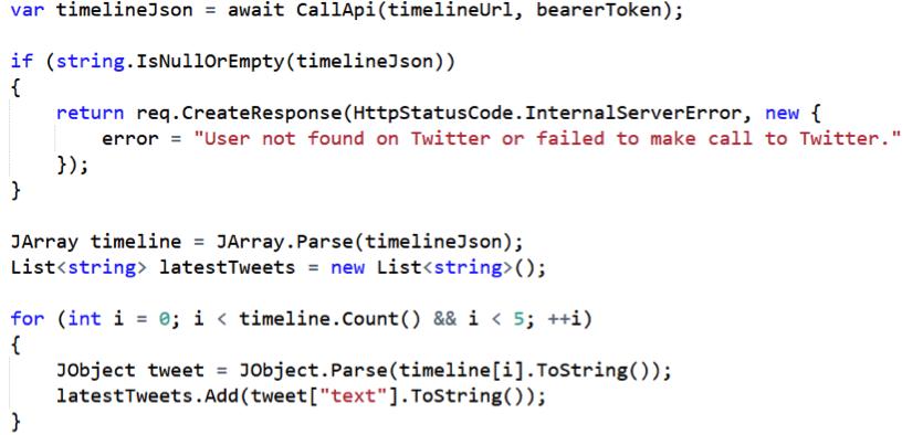 code using Azure Functions