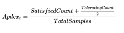 Apdex equation for search - sumo logic