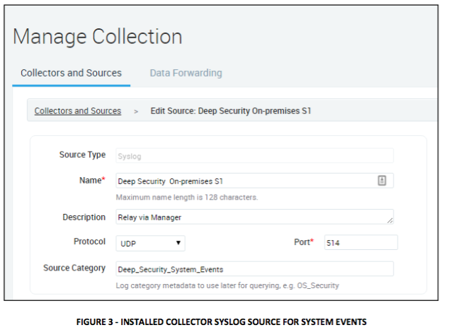 installed collector syslog source